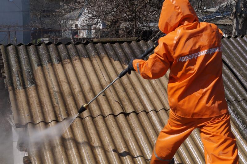 чистка крыши 3